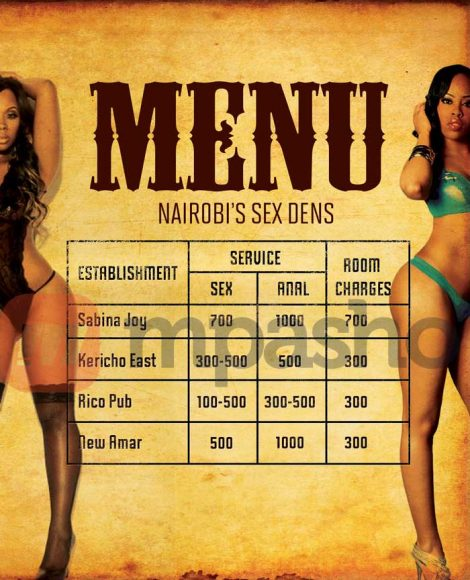 Brothels Sex-menu
