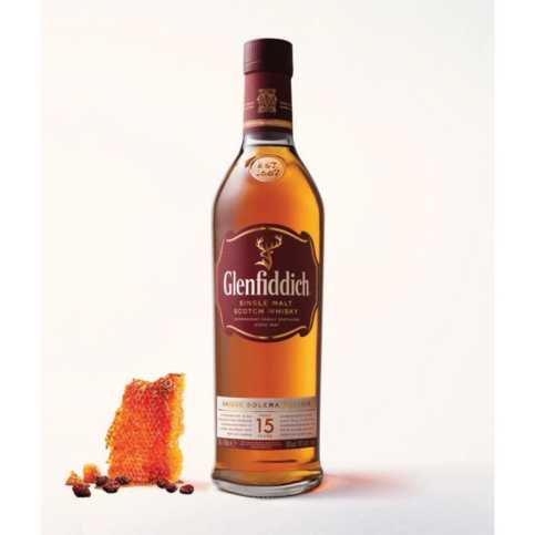 The 15 year old variant of Glenfiddich whisky (also known as Glenfiddich 15)