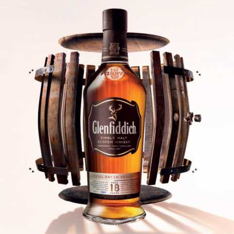 The 18 year old variant of Glenfiddich whisky (also known as Glenfiddich 18)