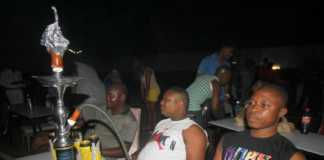 Patrons with shisha at Flamingo hotel Mombasa.Photo Elkana Jacob