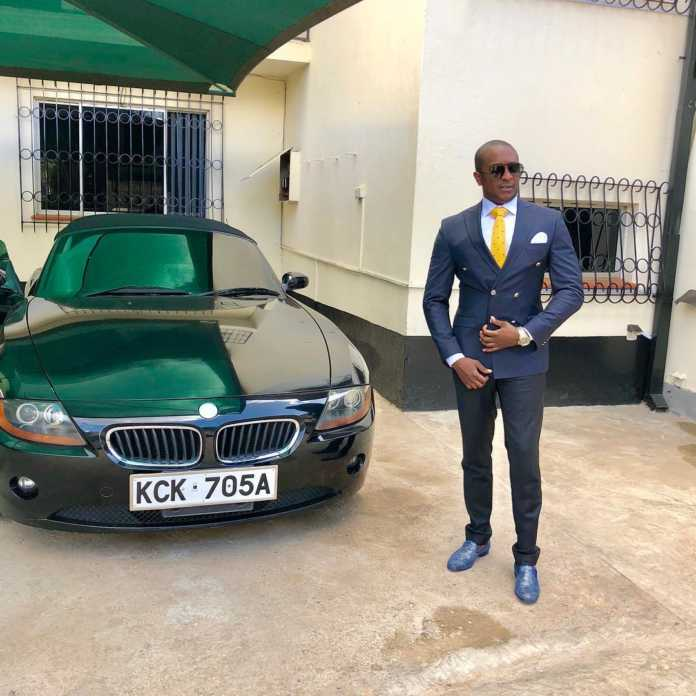 Steve Mbogo and his BMW
