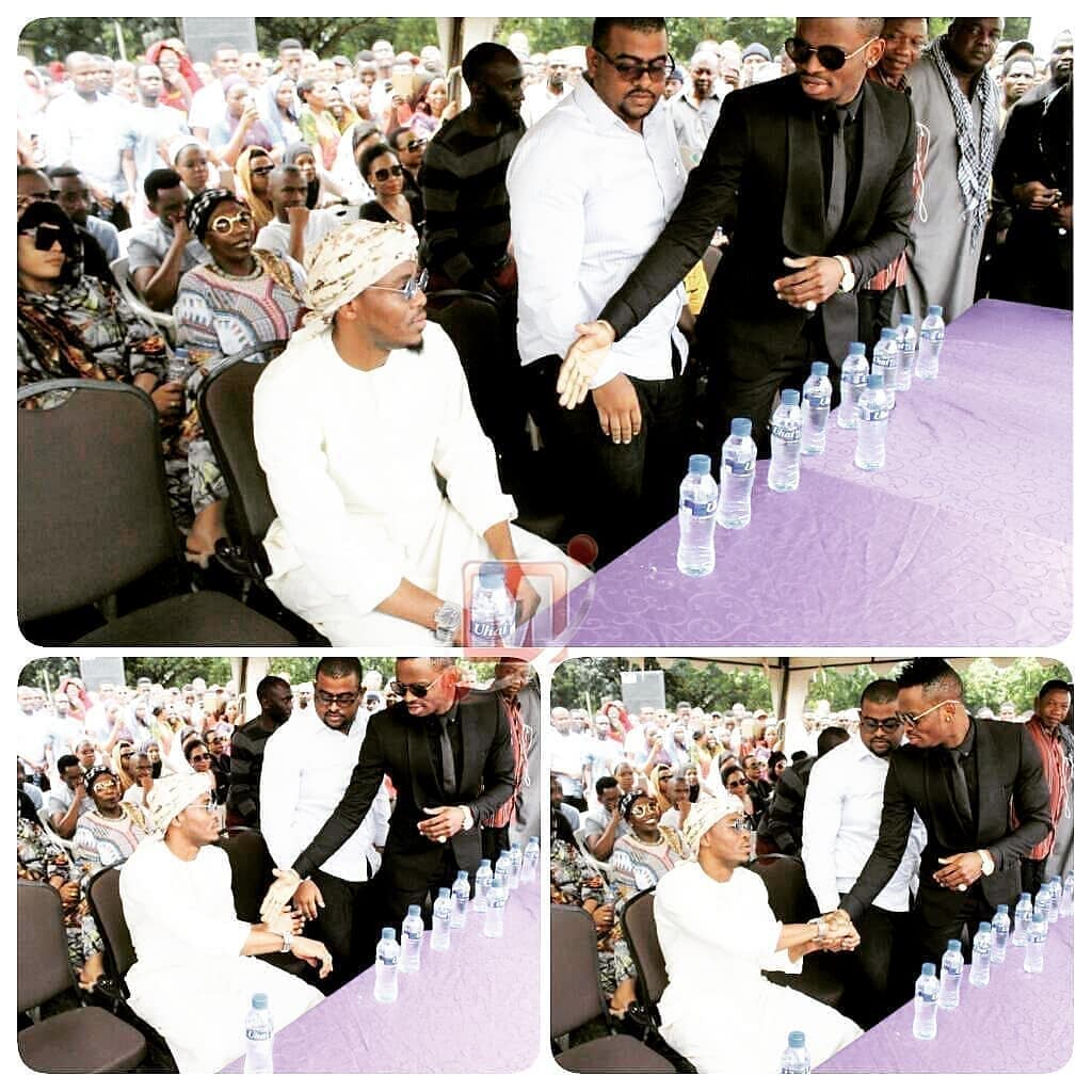 Diamond Platnumz and Ali Kiba's handshake