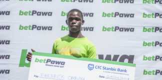 Fred Ombima from Kisumu is the happy winner of a cool 1.2 million shillings off his 5-shilling bet on betPawa. Since its launch in Kenya, betPawa has continued to unveil tens of millionaires who bet small and win BIG. Photo / COURTESY
