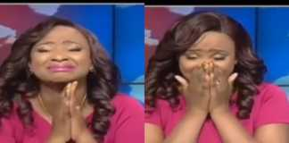 Kanze Dena crying