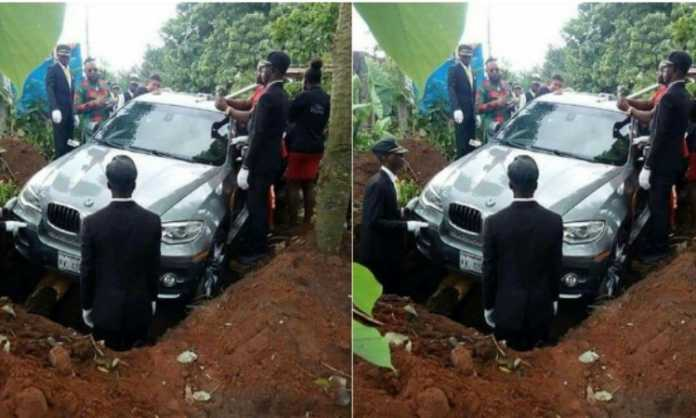 Man buried in BMW