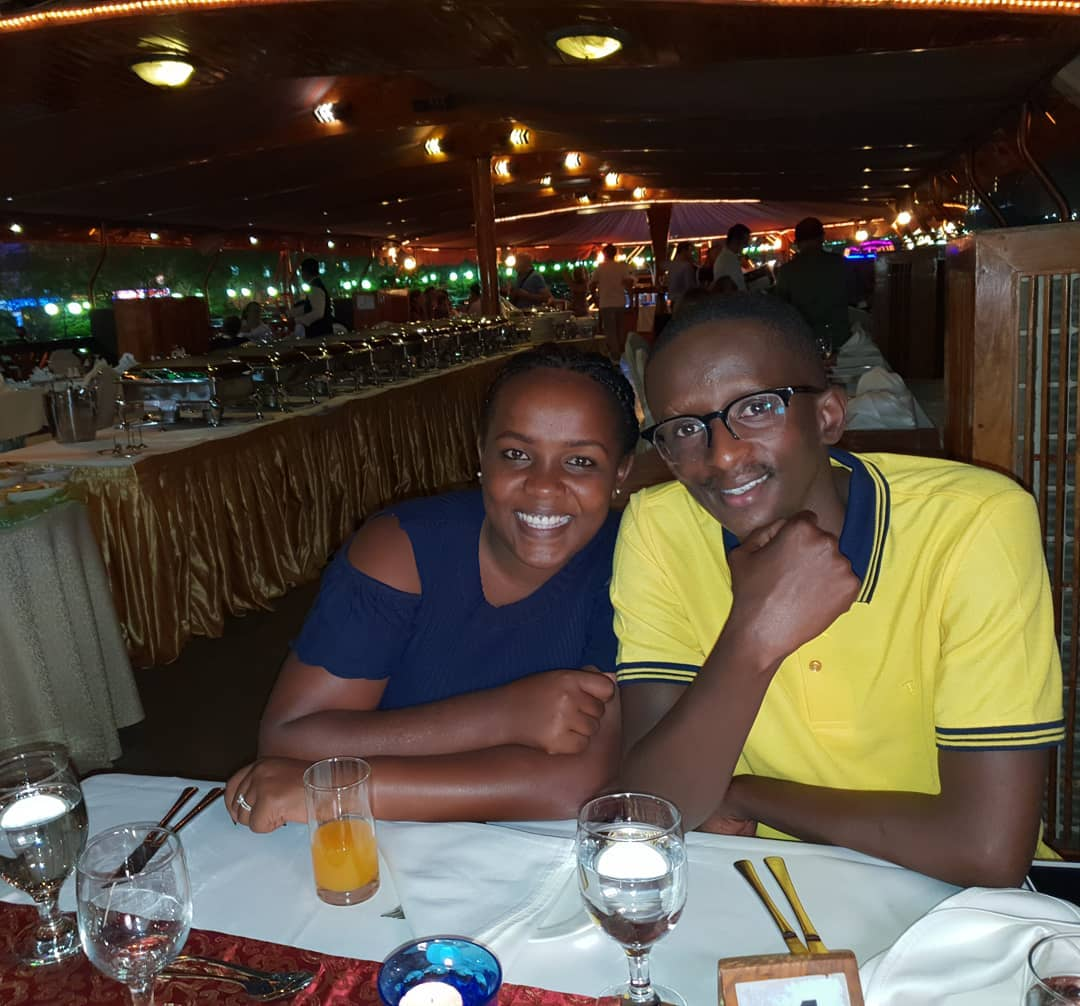 Njugush and wife Celestine Ndinda