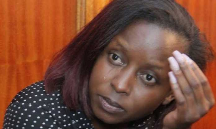 Jacque Maribe crying