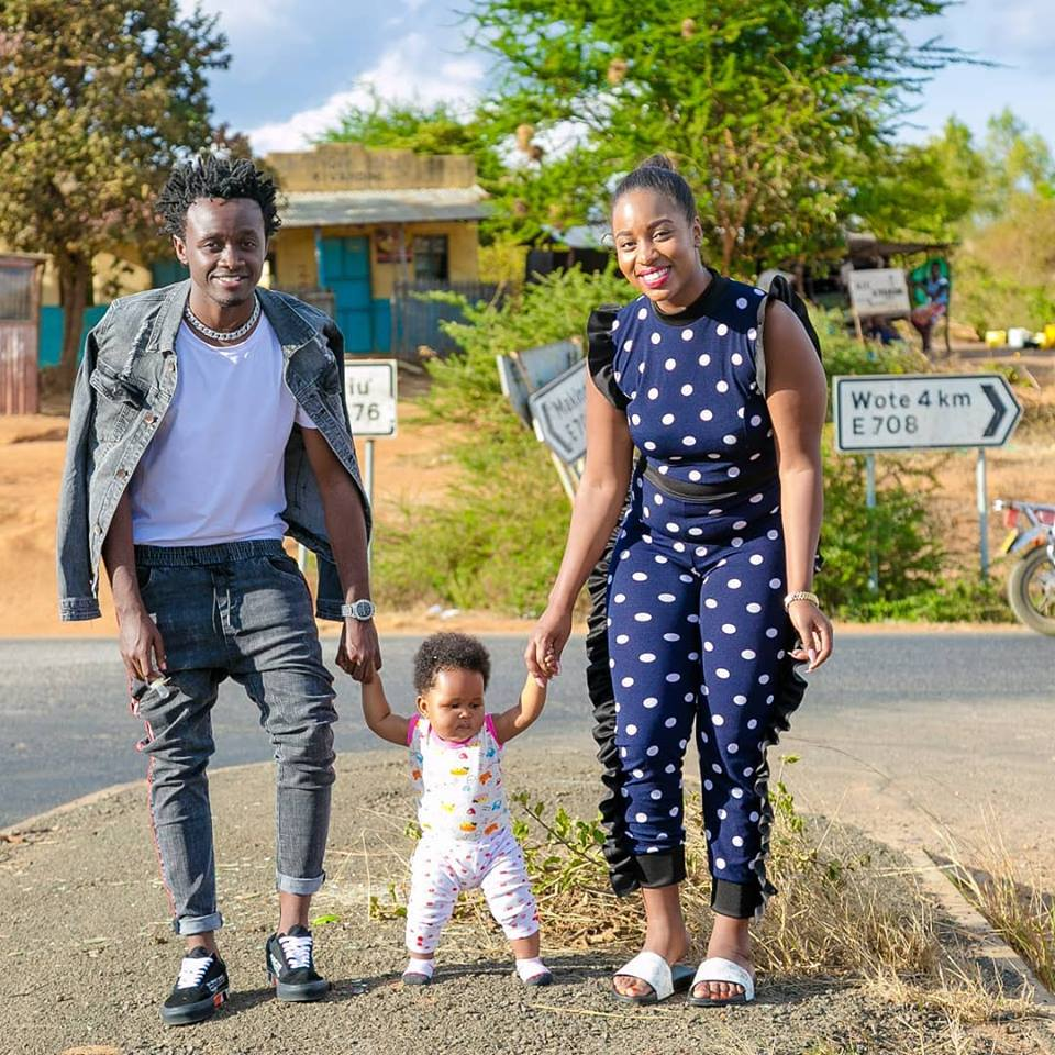 Bahati with his family