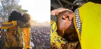 Mr Seed cries on stage