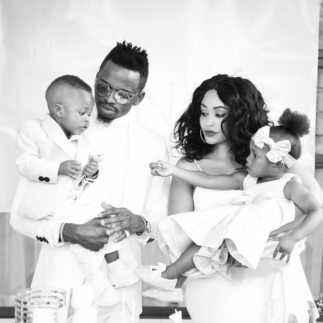 Zari-and-Diamond-with-their-two-kids-in-the-past