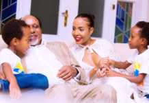 Mengi with his family