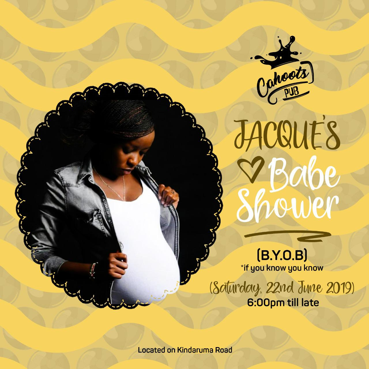 Jacque Maribe babe Shower invite