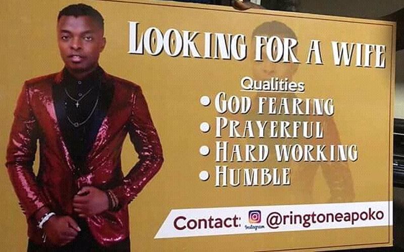 Ringtone looking for a wife