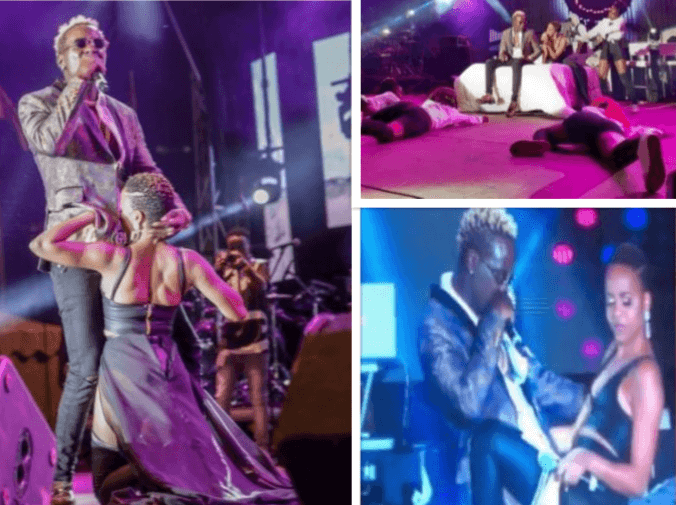 Willy Paul and Nandy served up major chemistry on stage as they flirted heavily with each other.