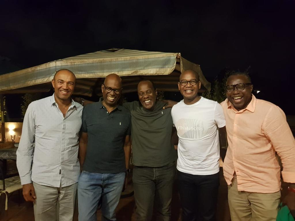 Bob Collymore with his friends