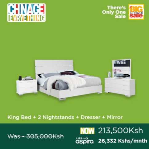 King Bed with nightstands