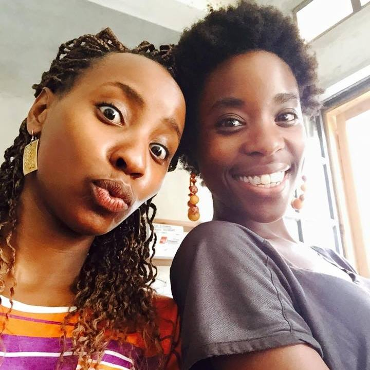 Achola with her sister
