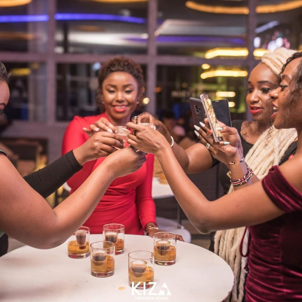 Betty Kyallo and her girls' squad