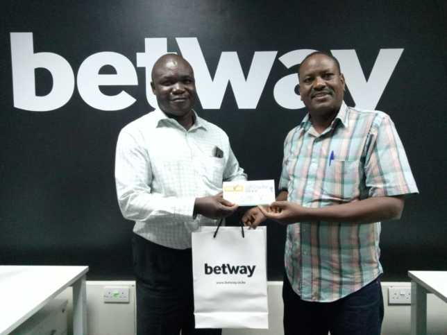 Obed Tsuma who won a shopping voucher on Betway's #DecemberWishList