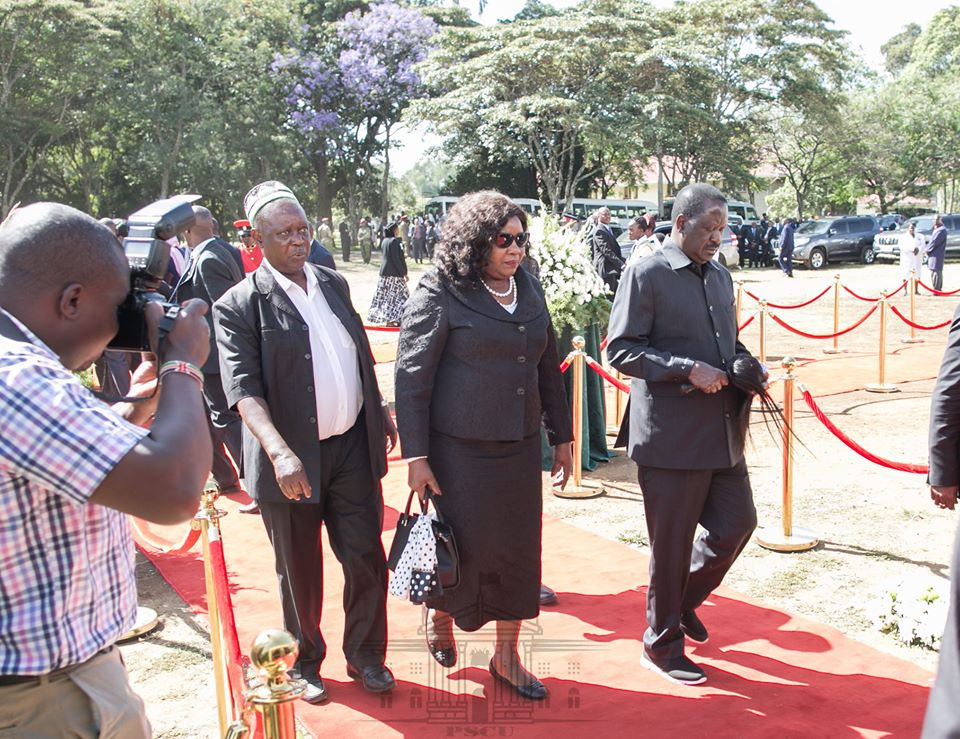 Idah Odinga,her husband and brother-in-law.