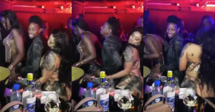 Vera and Akothee dancing with Omondi