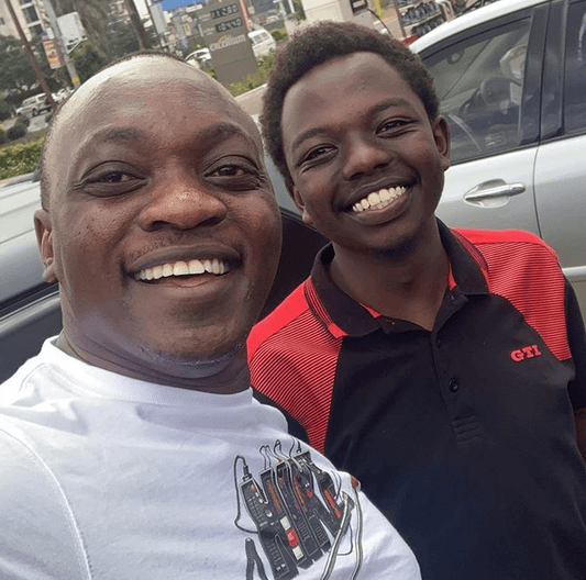 Ken Mijungu and Ruto's son