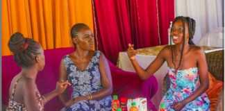 Akothee with daughters