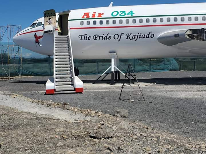 Check out the Kitengela VIP night club designed in an old aircraft
