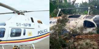 Kenya police chopper crash