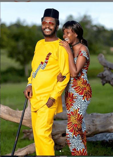 Actor Njoro and his daughter