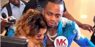 Diamond hugs Zari at airport