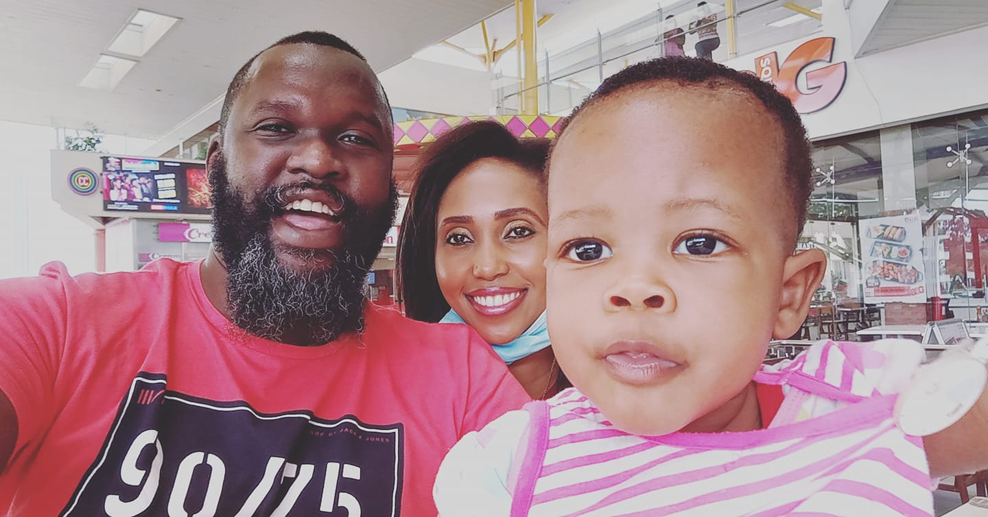 Nick Odhiambo and his family