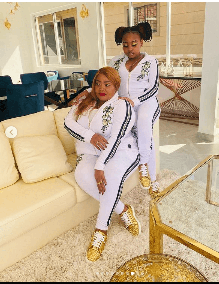 Mike Sonko's wife and daughter