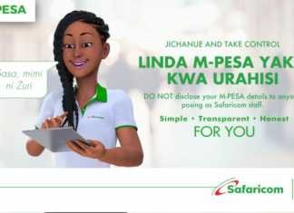 DO NOT disclose your M-PESA details to anyone posing as Safaricom staff