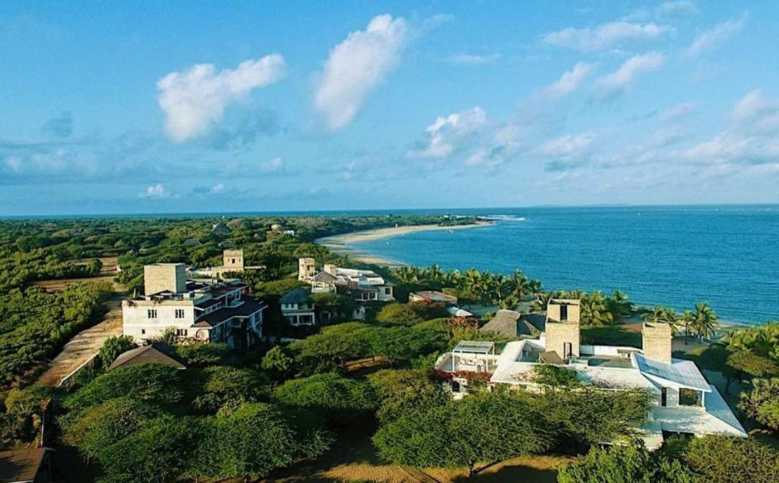 Aerial view of The Majlis in Lamu with breathtaking views